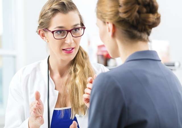 Doctor with patient in a consulting